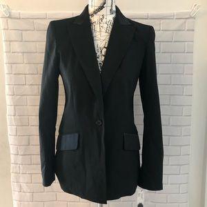 NWT DKNY wool silk black blazer jacket $428